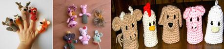 Marionnettes à doigts  dans marionnettes et création mario-a-doigt