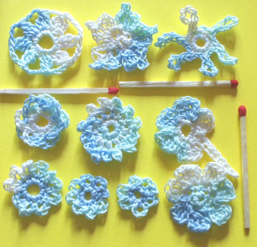 Tuto Petites Fleurs Au Crochet Le Crochet De Sabine