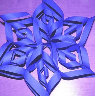 Derni re minute toiles de no l en papier cadeau les - Comment faire une etoile en papier facile ...