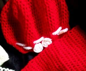 Bonnet et écharpe fille crochet (3 ans) dans CROCHET/TRICOT DSCF2493-copie-300x247
