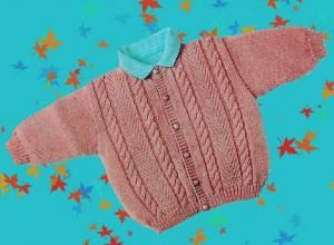 Gilet tricoté (3 mois/ 6 mois) dans CROCHET/TRICOT petit-pull-300x220