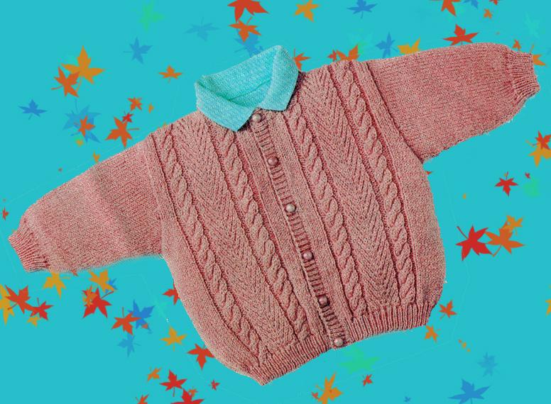 Gilet tricoté (3 mois  6 mois) dans CROCHET TRICOT petit-pull 34da3f2553a